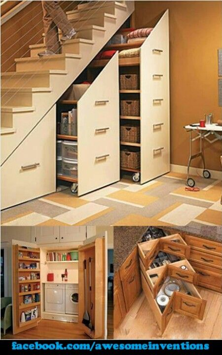 Idea for better usage of under the stairs...