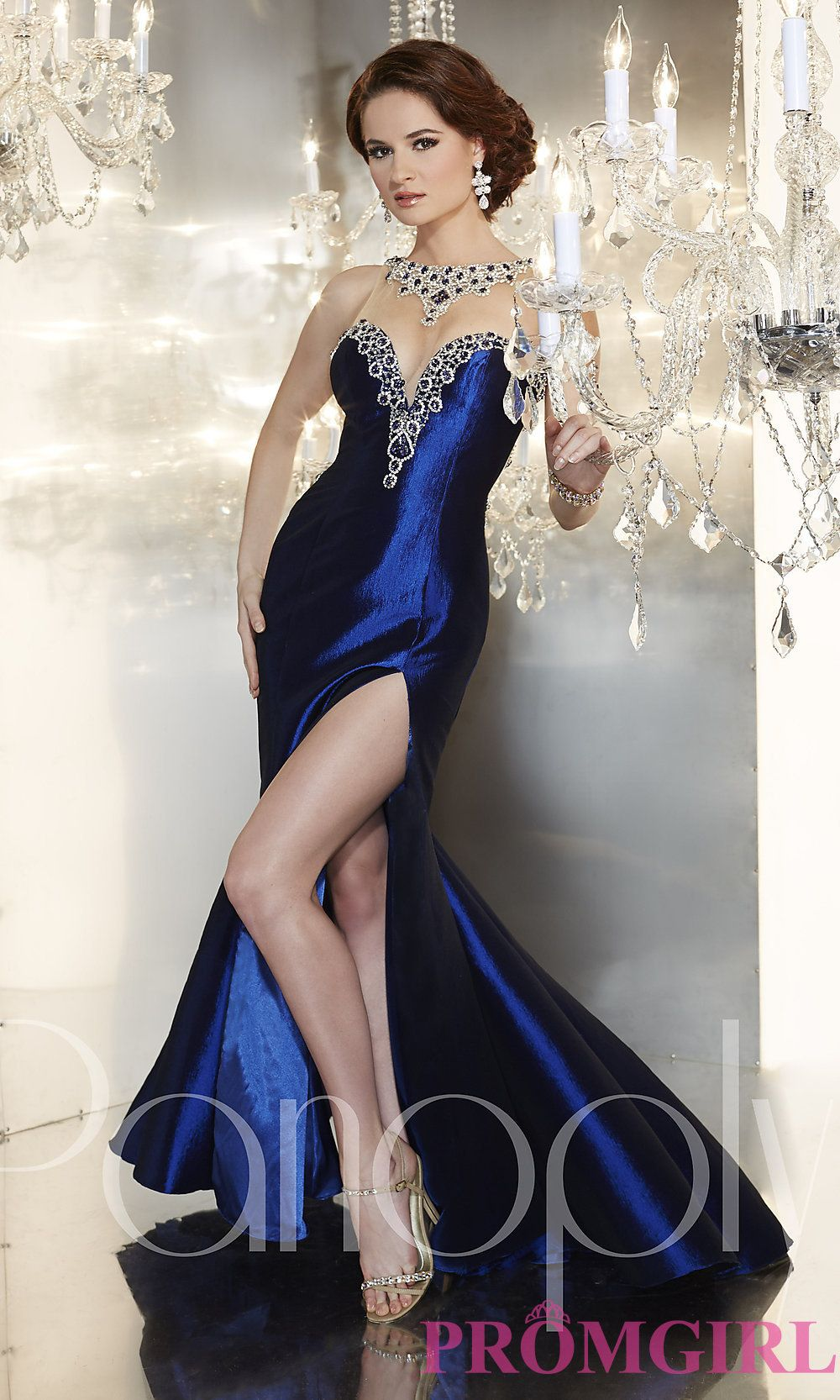 Full length gown with a sheer back by panoply prom shoes prom