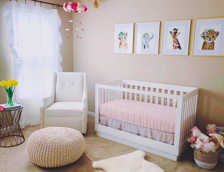 Show Off Cute Pink Sheets With Our Acrylic Crib Babyletto Harlow Crib Pink Sheets Cribs Babyletto Crib