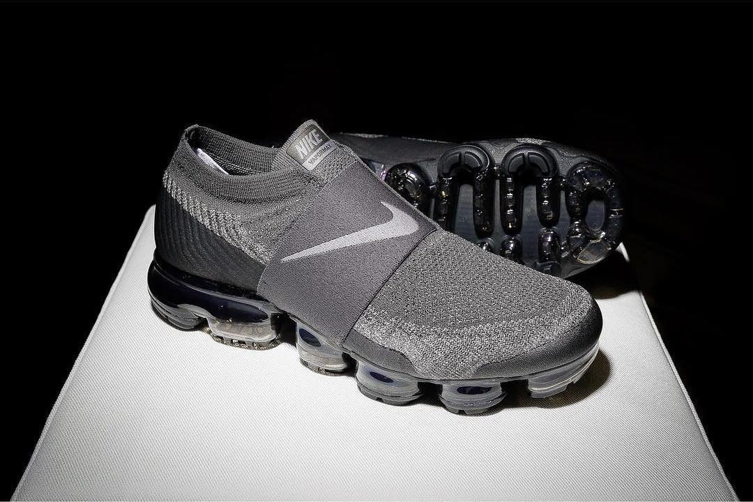9e58cc688ed2c1 The Nike Air VaporMax Laceless Sees a Stealthy Grey and Black Colorway