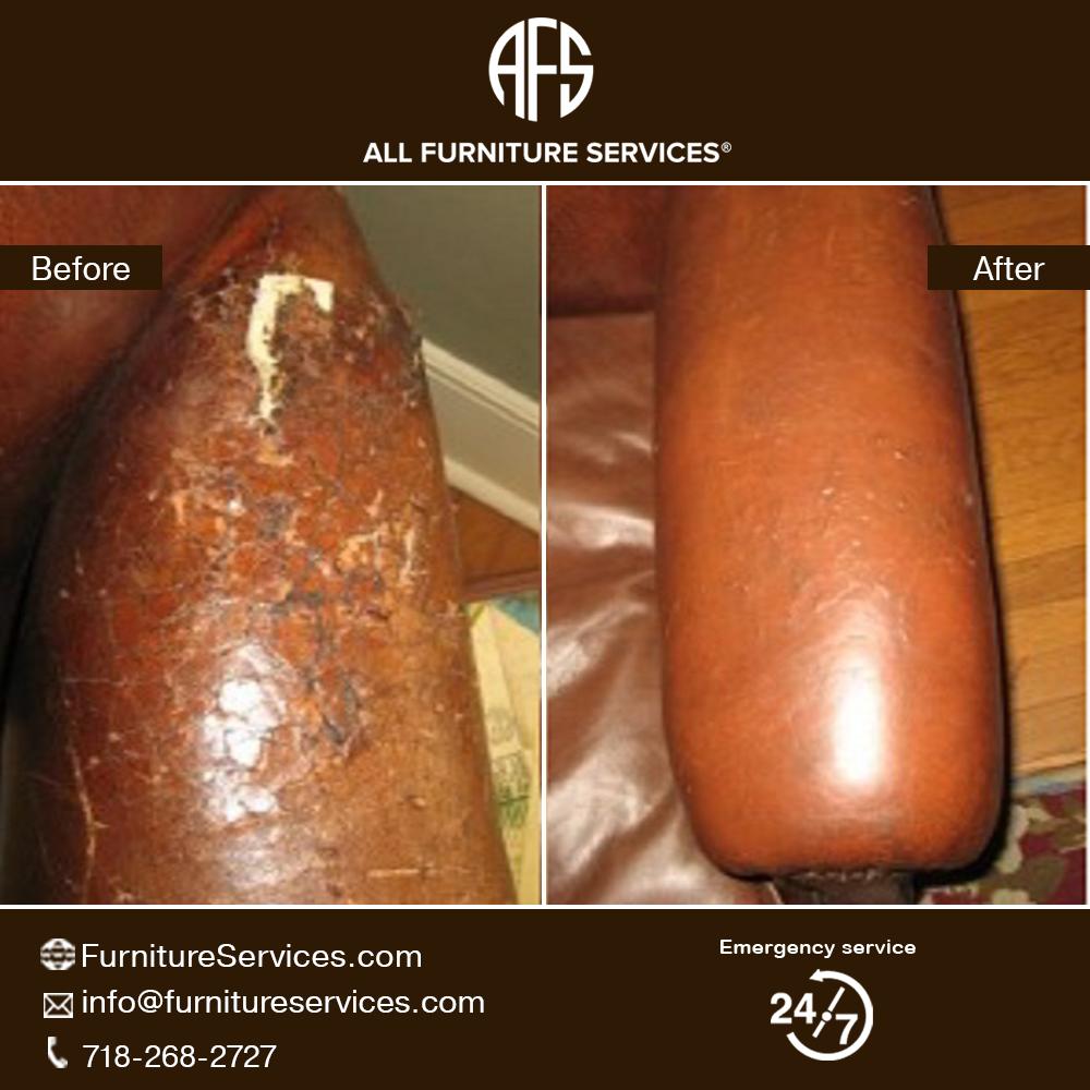 #Extreme #Damged #Leather #Arm #Repair. | Furniture repair ...