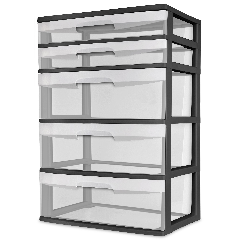 Home 5 Drawer Storage Plastic Storage Storage Drawers