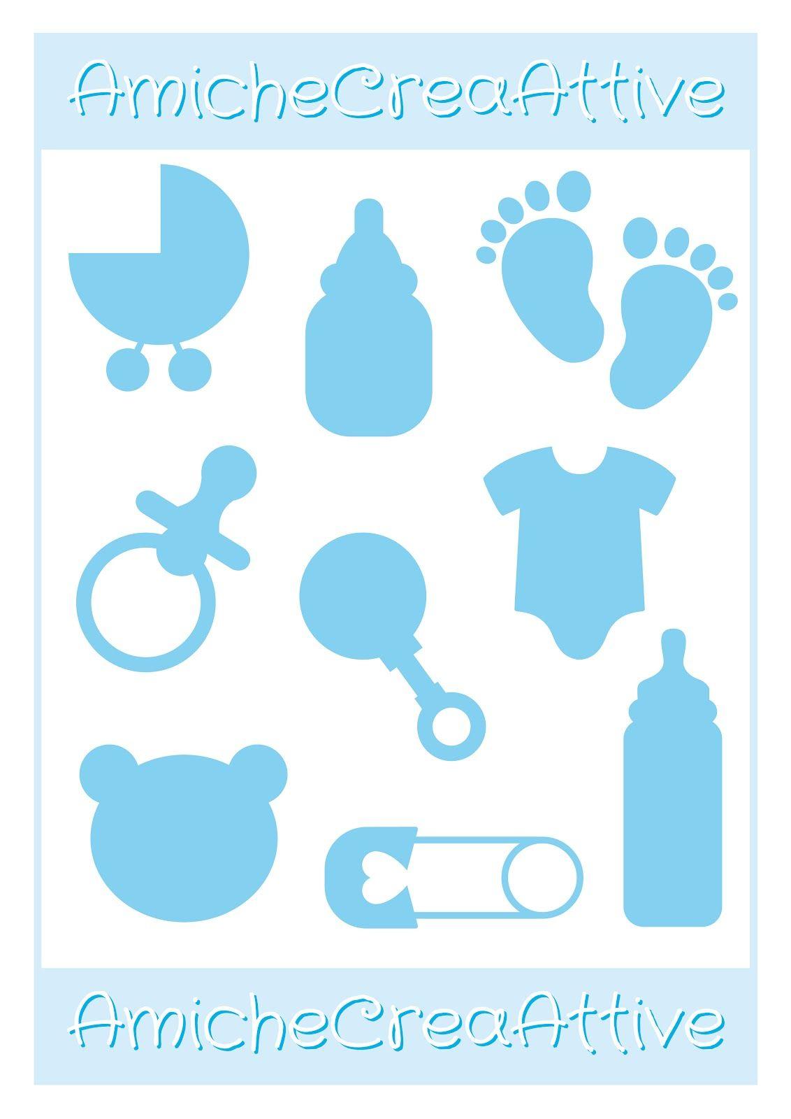 baby boy printables - AmicheCreaAttive | Cricut | Pinterest ...