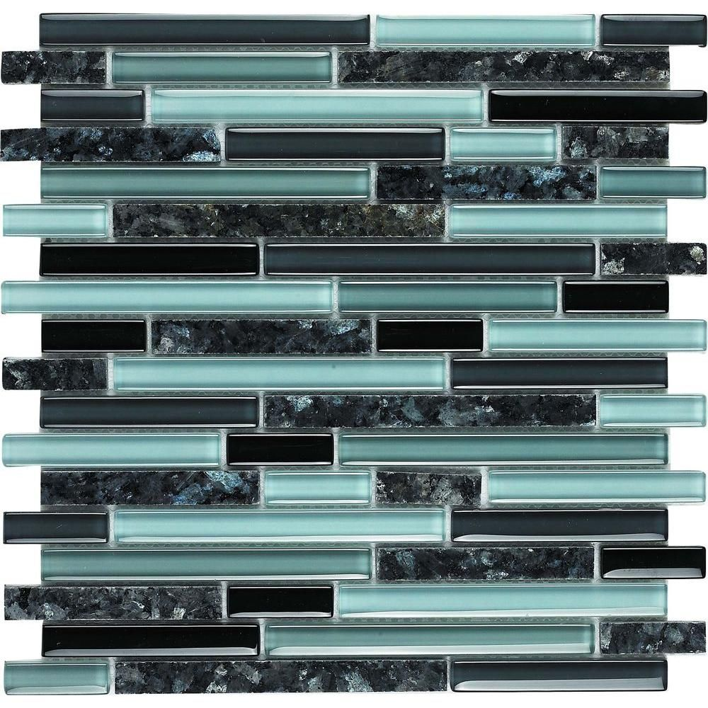 Epoch Spectrum Blue Pearl 1662 Granite And Glass Blend 12 In X 12 In Mesh Mounted Floor Wall Tile 5 Sq Ft Stone Tile Wall Wall Tiles Granite Wall Tiles