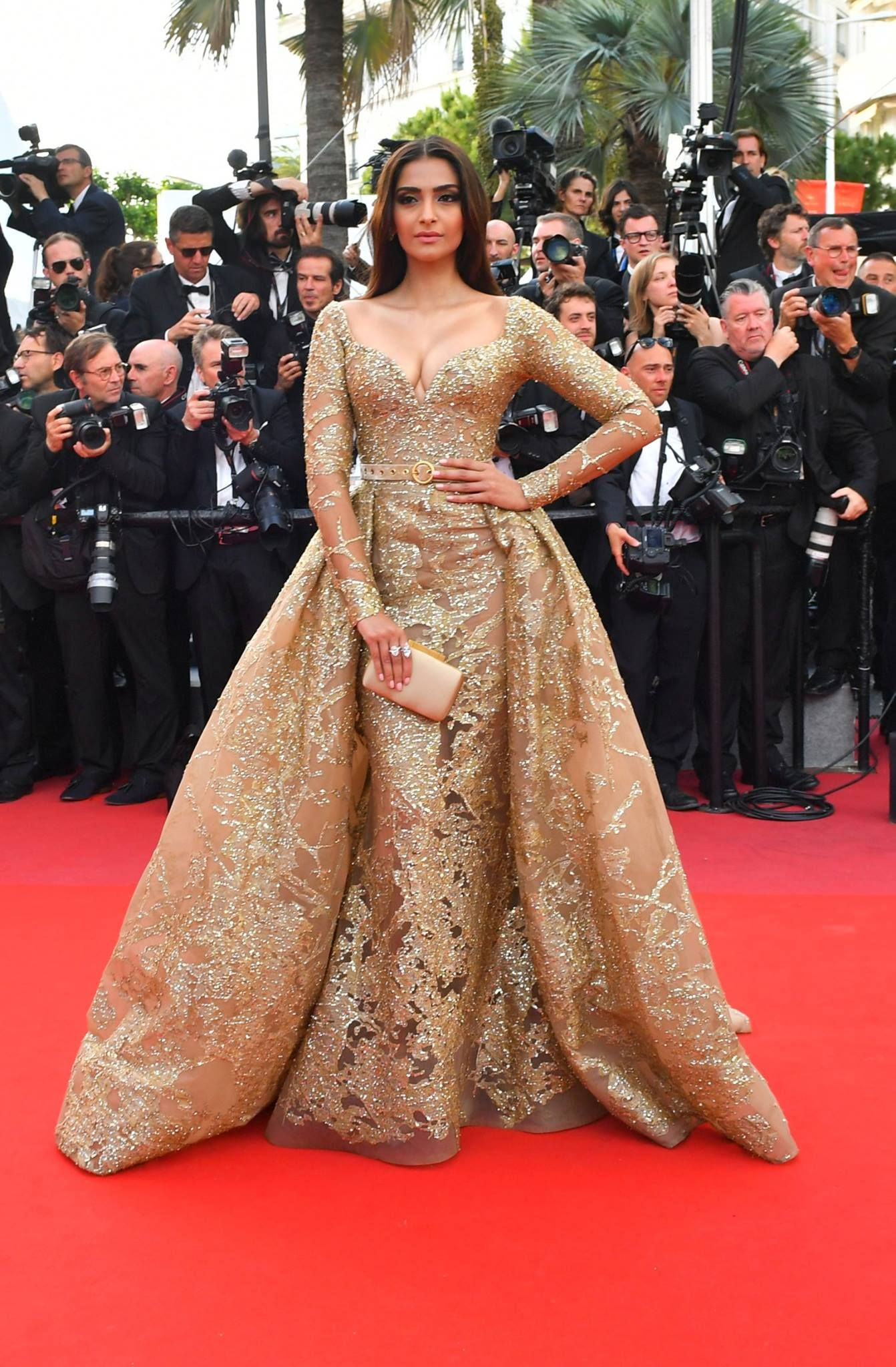 Sonam Kapoor In Elie Saab Plenty Of Show Stopping Wedding Gown Inspiration On The Red Carpet At 2017 Cannes Film Festival With Celebrities Like