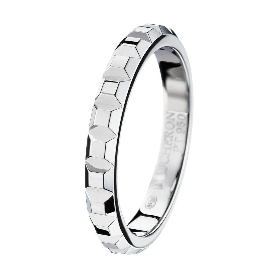 BOUCHERON Pointe De Diamant Small Platinum Wedding Band