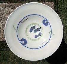 "Bowl Art Pottery Wheel Thrown 10"" Wide Low Fruit / Spaghetti Serving Porcelain"