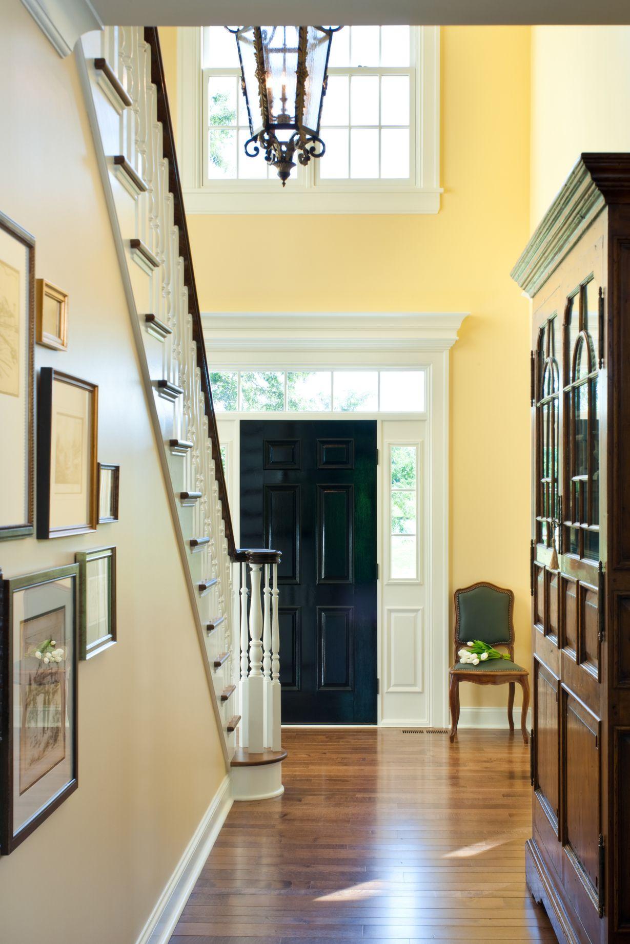 Paint doors a deep, rich, shiny black ...grand piano black ...