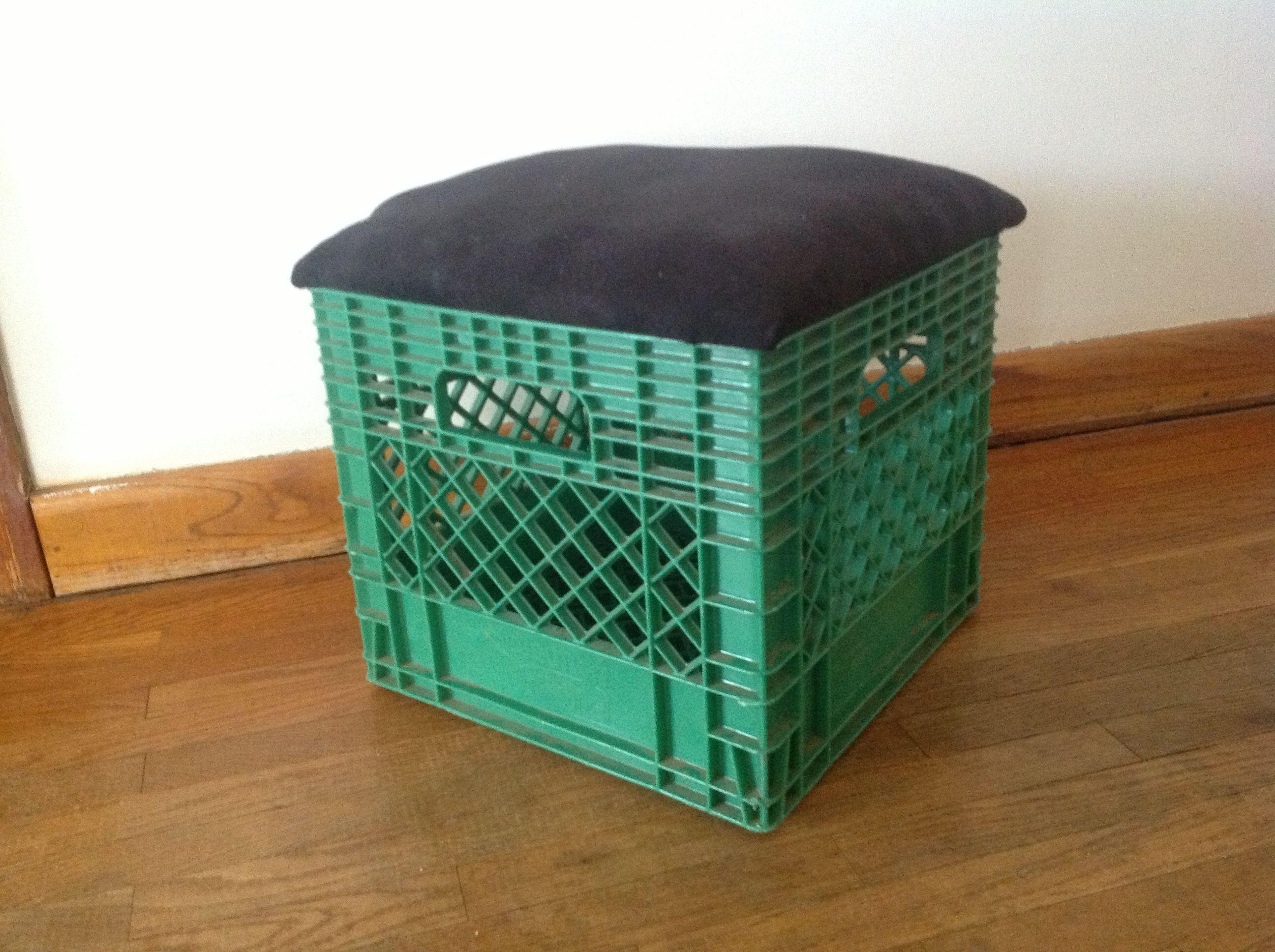 Diy Milk Crate Chair :) Milk Crate Chairs, Milk Crates, Boy Rooms,