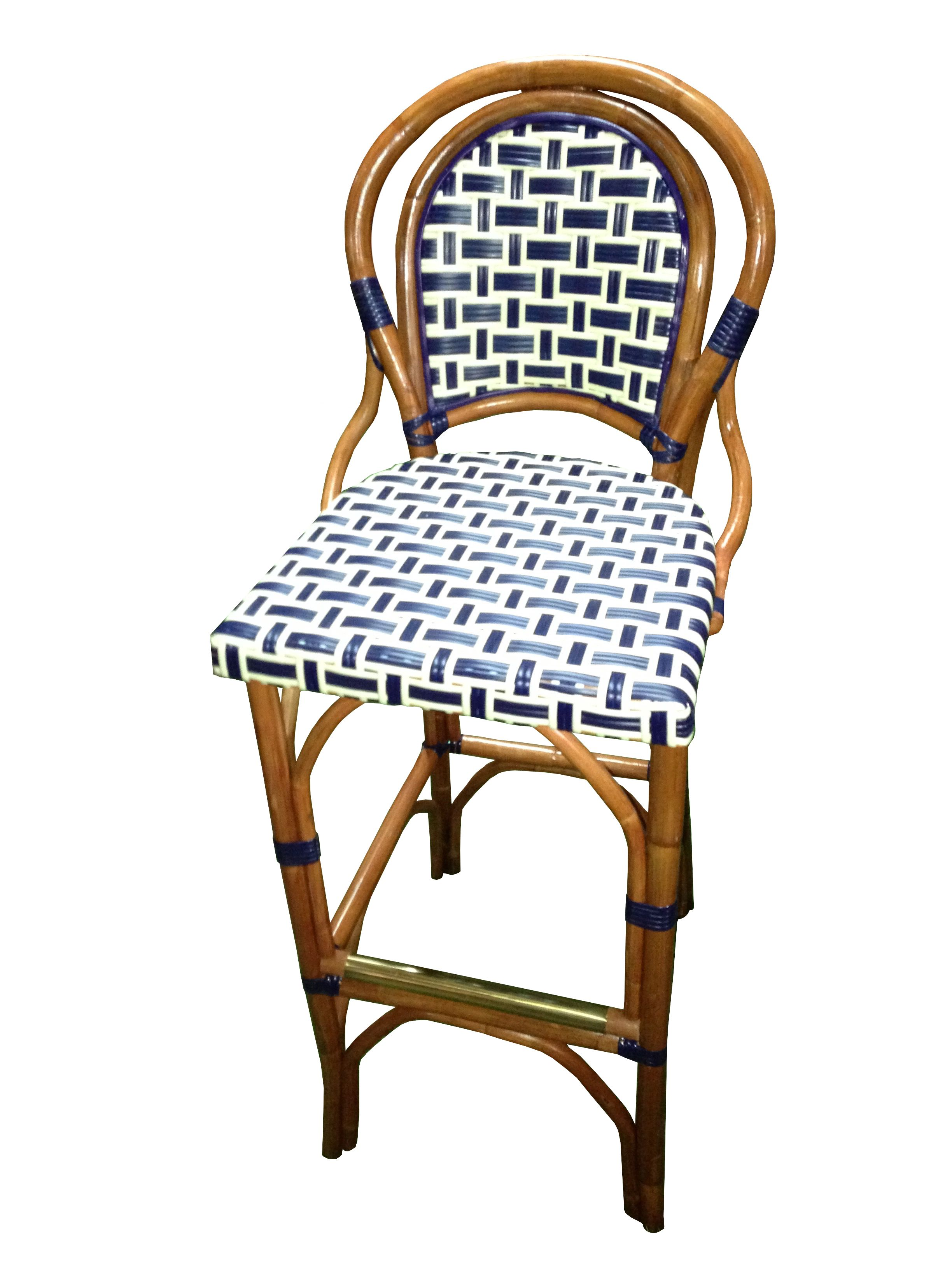 Hk 331 Diablo Weave Navy Cream French Bistro Chairs Bar Stools Bistro Stools