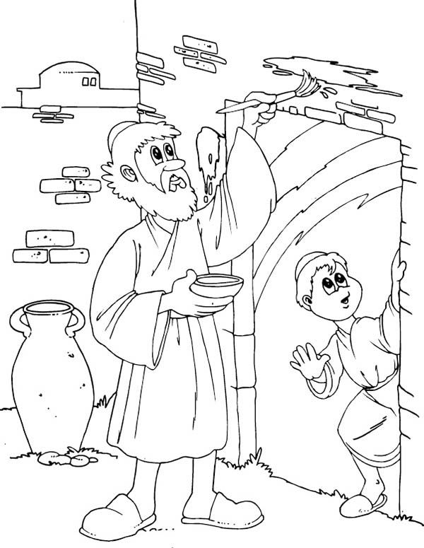 children of israel do the gods command to mark their door on passover coloring page - Coloring Page For Toddlers