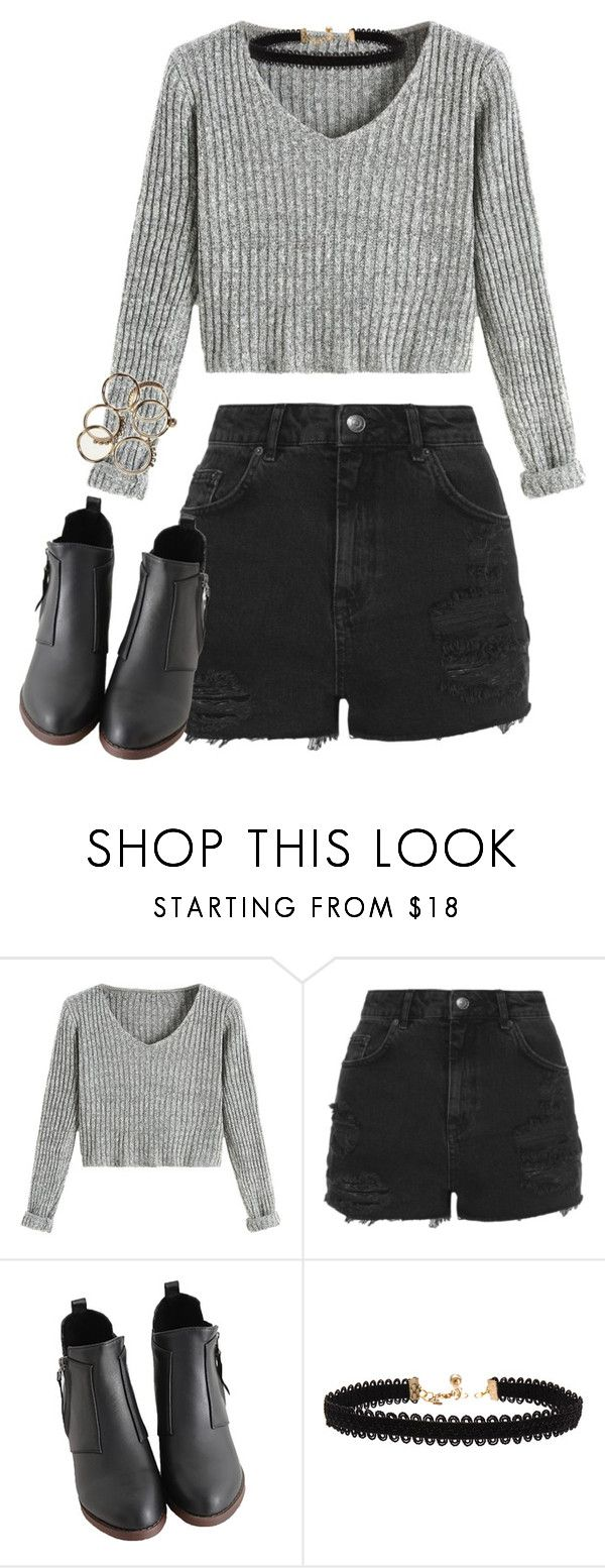 """""""Untitled #404"""" by tired-unicorn ❤ liked on Polyvore featuring Topshop and Vanessa Mooney"""