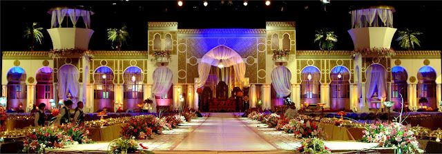 Arabic style wedding stages images