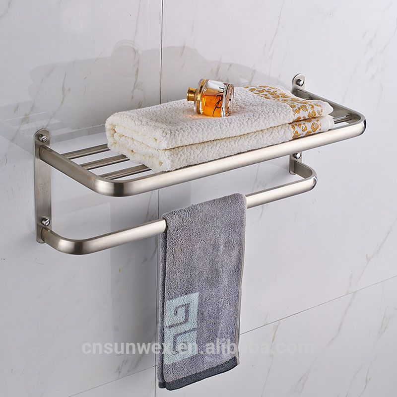 Stainless Steel Bathroom Towel Rack Bathroom Shelf Towel Holder ...