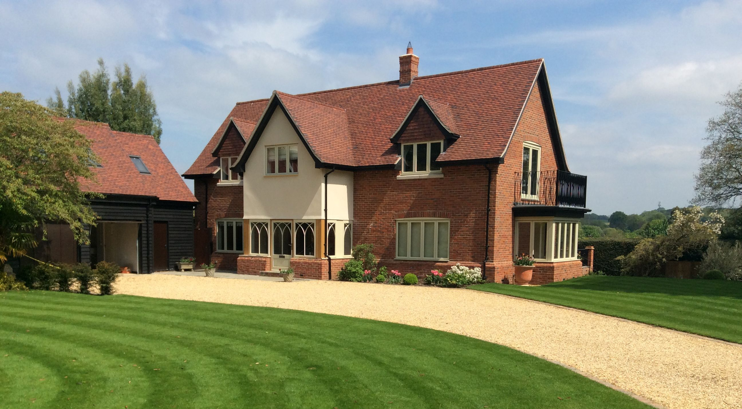 A Self Build Brick Block House Image From D M Homes Enquiries Dm Homes Co Uk Self Build Houses House Building