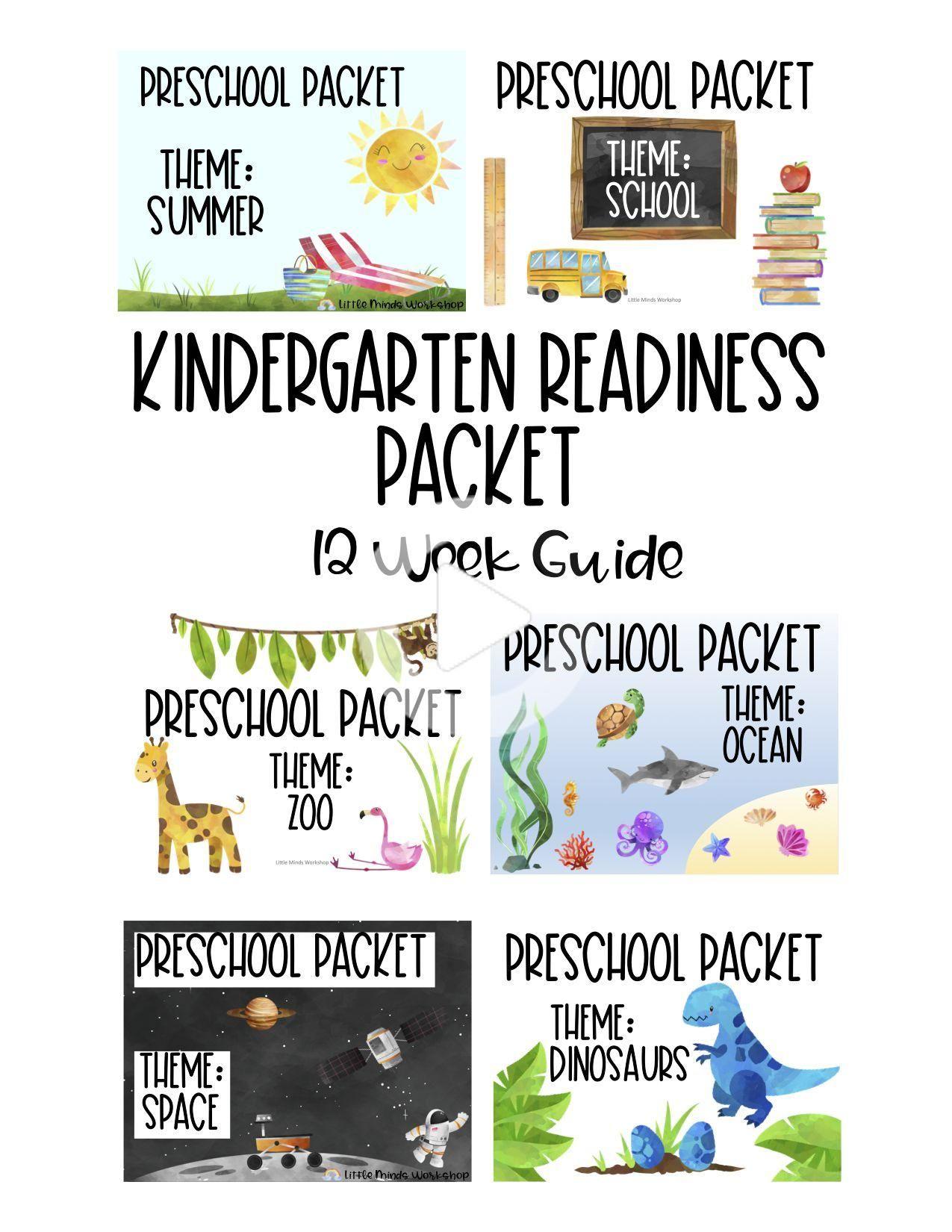 Kindergarten Readiness Packet 12 Week Guide In
