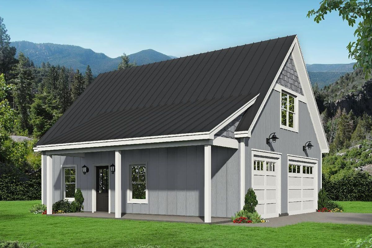 Plan 68659vr 2 Car Outbuilding With Many Potential Uses In 2021 Ranch Style House Plans Country Style House Plans Pool House Plans