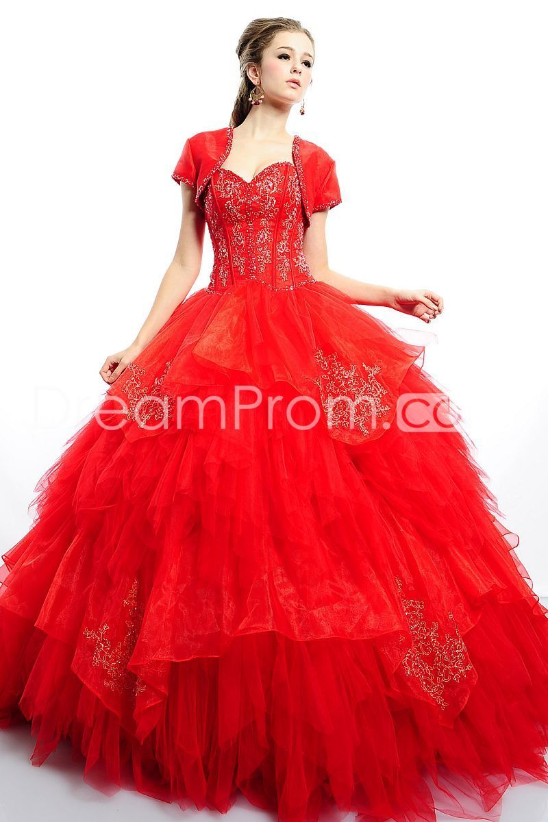 Fabulous Ball Gown Quinceanera Sweetheart Strapless Dresses ...