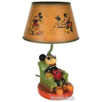 Mickey mouse lamp 1930s my kind of vintage pinterest mickey mouse lamp 1930s aloadofball Choice Image