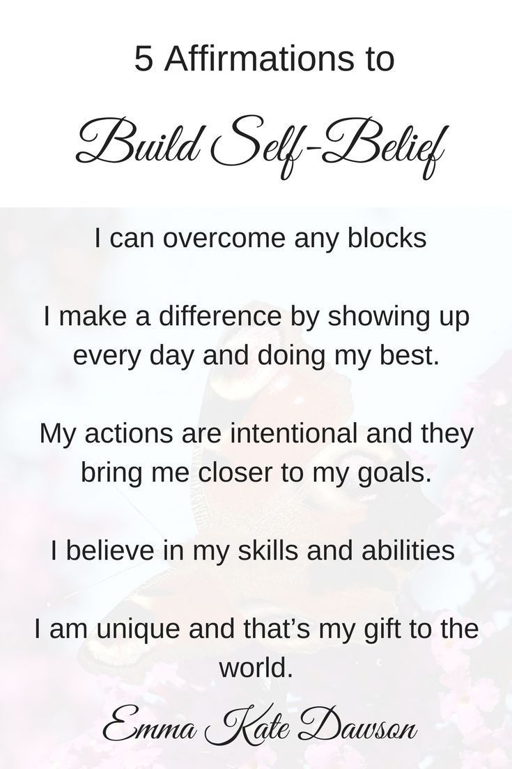 How to use positive affirmations to build confidence