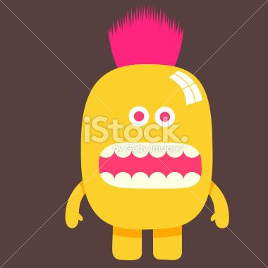shiny yellow punk character illustration Royalty Free Stock Vector Art Illustration