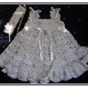 Crochet Baby Christening Dress Pattern Free
