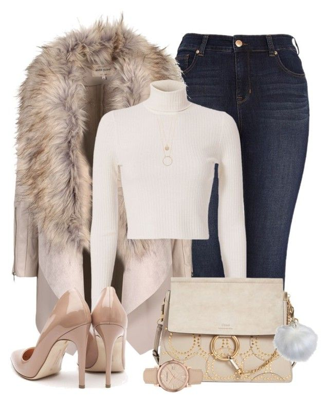 """""""Fur Coat"""" by ashleydawn2 ❤ liked on Polyvore featuring Melissa McCarthy Seven7, A.L.C., Chloé, Rupert Sanderson, Kate Spade, Threshold and Burberry"""