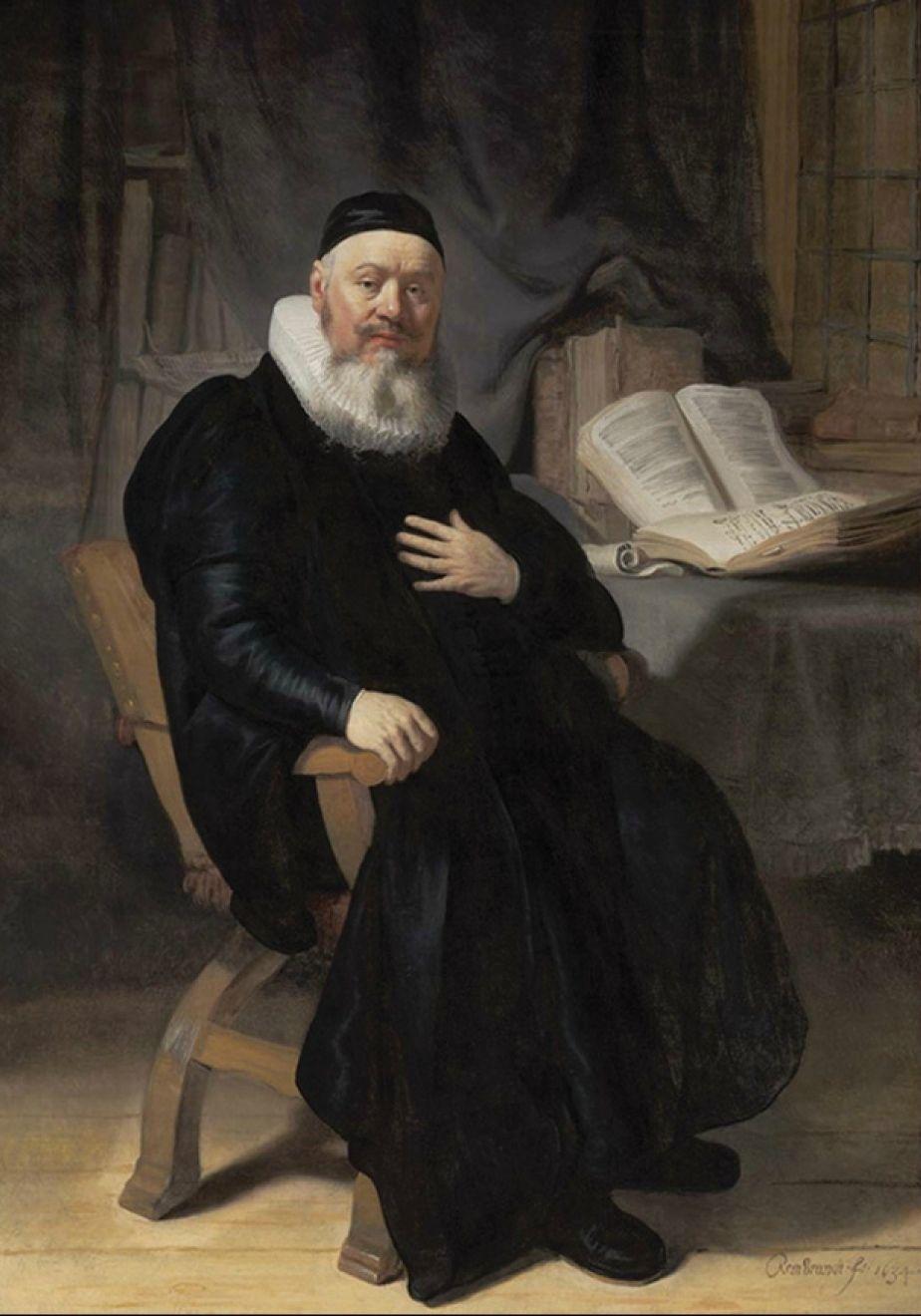 Rembrandt Harmensz. Van Rijn Dutch 1606 1669 Reverend Johannes Elison 1634. Oil Canvas