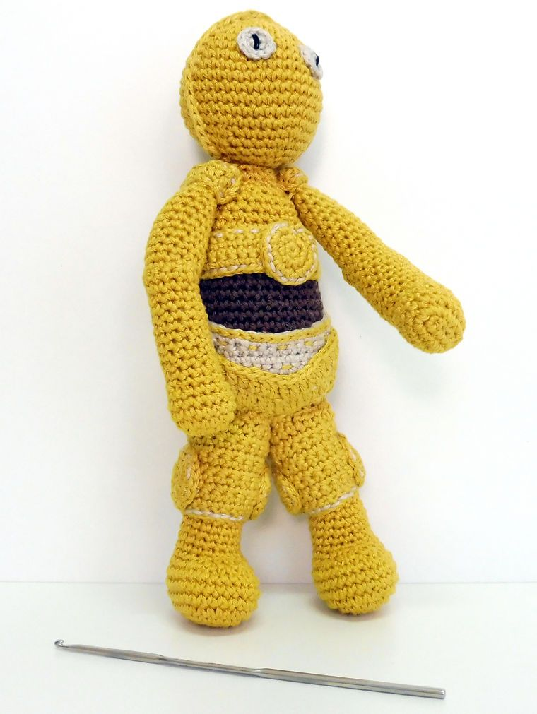 PUNTXET Patrón amigurumi C-3PO #amigurumi #crochet #ganchillo ...
