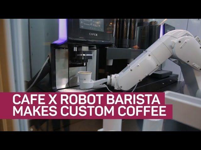 Cafe X robot barista makes custom coffee COPLUSO STUDIO