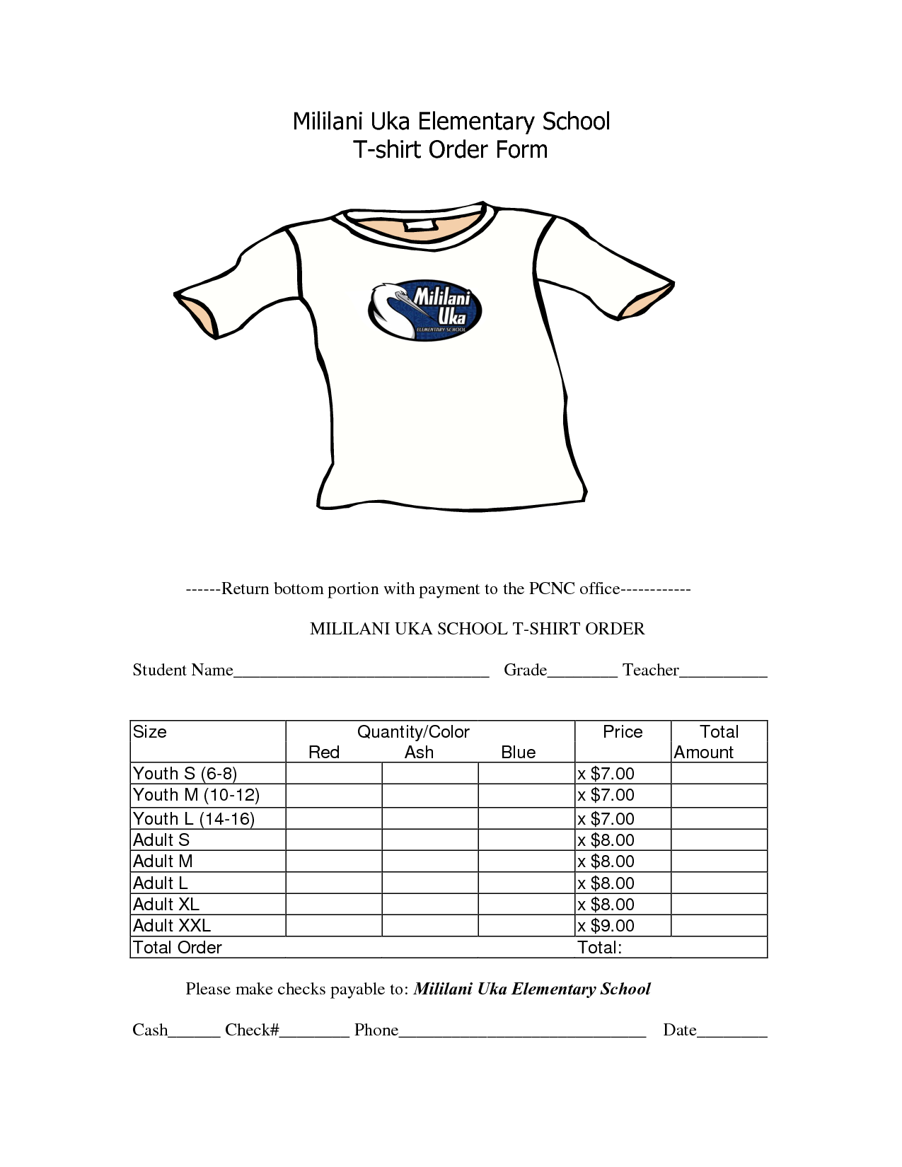 School t shirt order form template clothes pinterest for Where to order blank t shirts