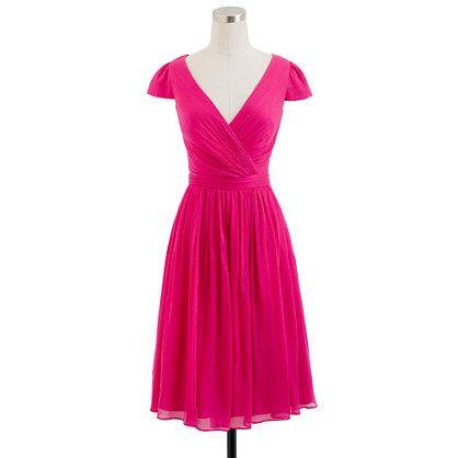 gasa de redondo Mirabelle de me mucho vestido honor que de seda cuello una de gusta con rosa fuerte de damas Vestido Pxqwdgq