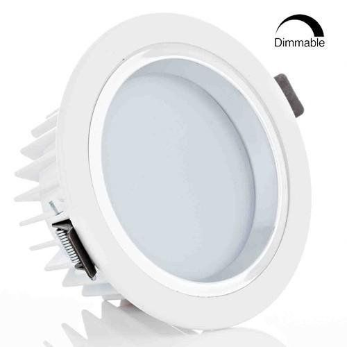 12w 4 inch dimmable led retrofit recessed light 90w halogen dimmable retrofit led recessed lighting fixture warm white led ceiling light halogen equivalent frosted glass bright white shell remodel can light aloadofball Gallery