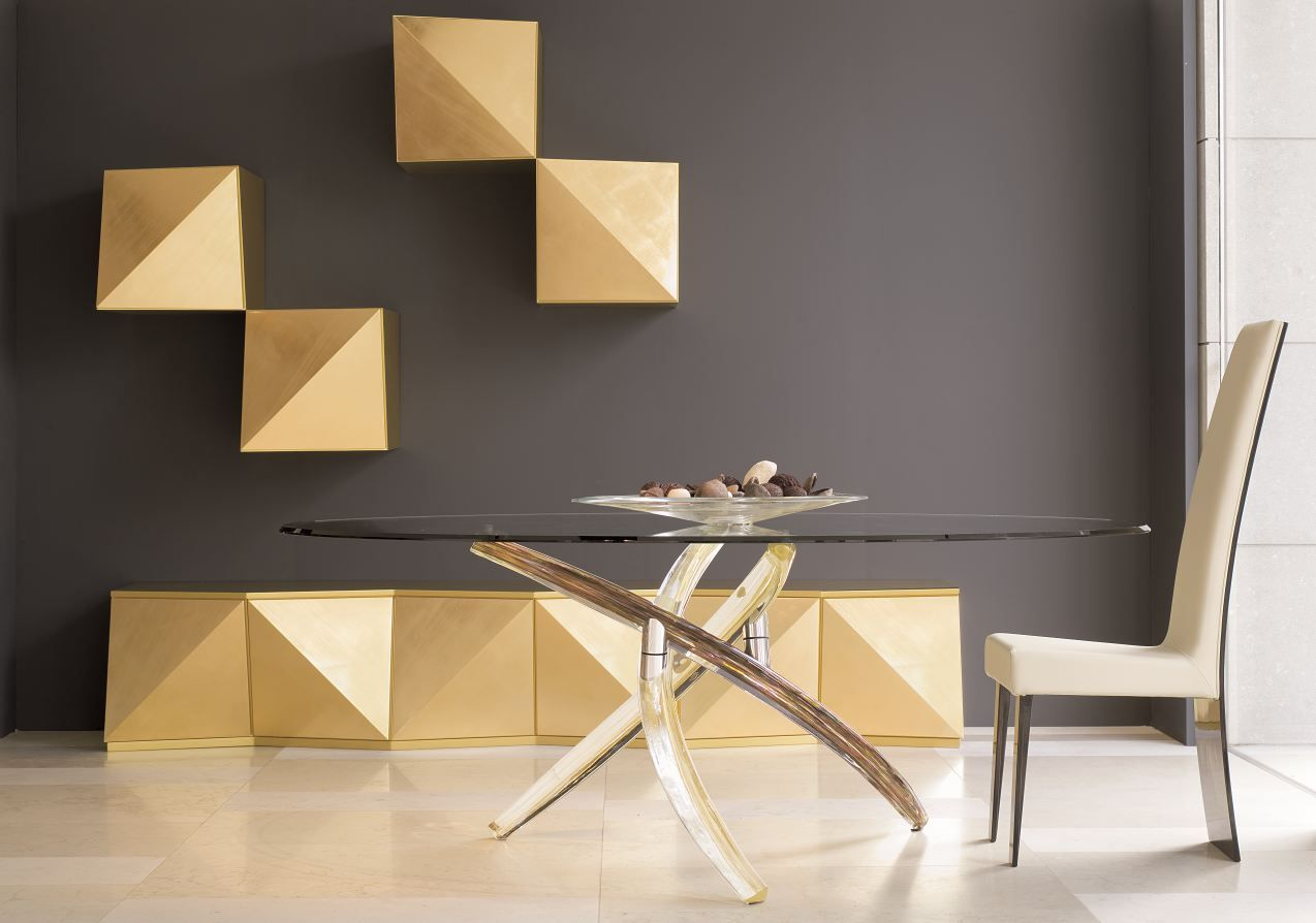 Amazing Contemporary Dining Tables Steal The Show With A Sculptural Base | Oval  Dining Tables, Infinity Table And Glass