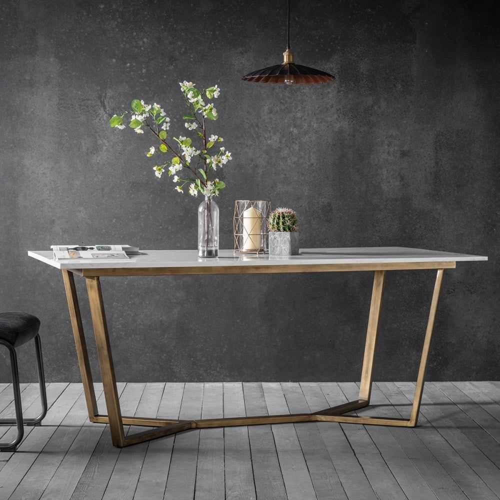 Gatsby Contemporary Marble Dining Table