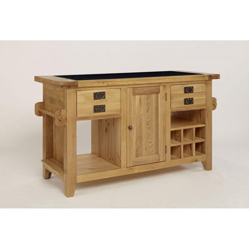 ametis provence oak granite top kitchen island unit
