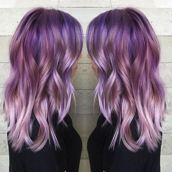 purple ombre hair Beauty: Fantasy Unicorn Purple Violet Red Cherry ...