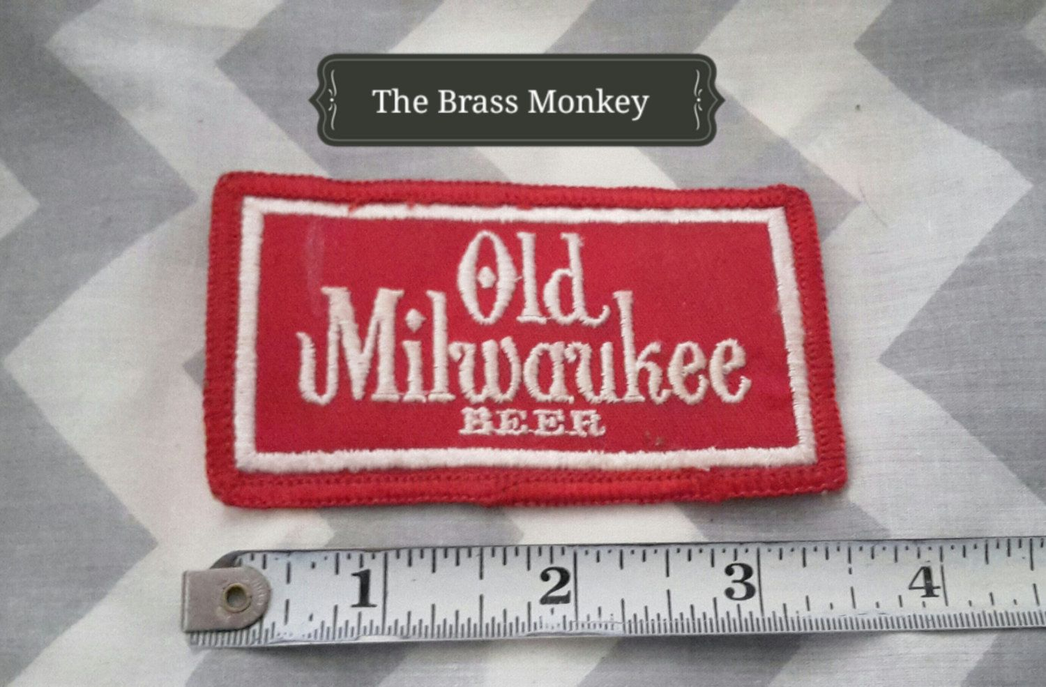 Vintage Old Milwaukee Beer Sew On Patch Great Gift For