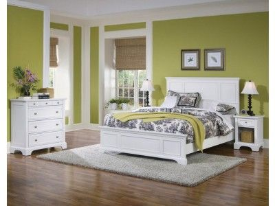 Naples White Queen Bed, Night Stand, and Chest Regina room