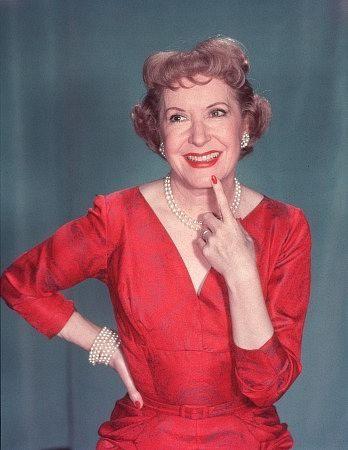 Gracie Allen 1895 - 1964. George Burns' wife and acting partner.