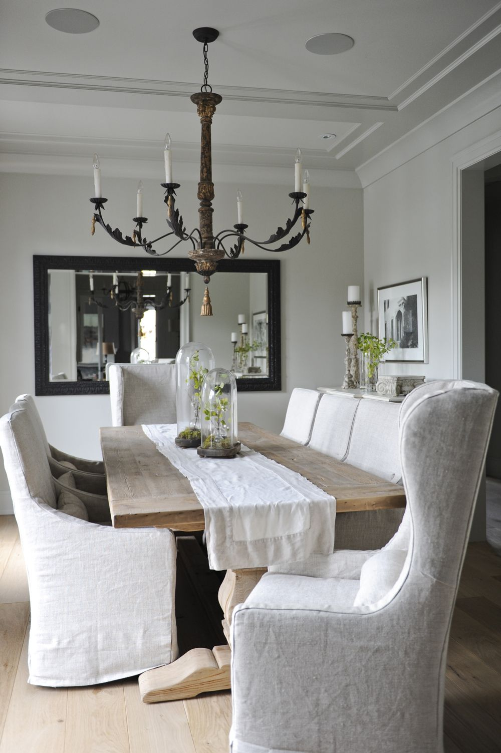 A Good Chandelier To Table Width Ratio