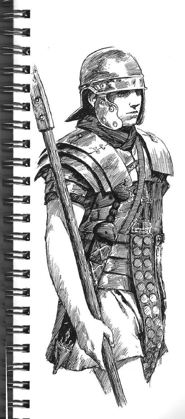 Roman Soldier Sketch By Jedi Art Trick Soldado Desenho Desenho