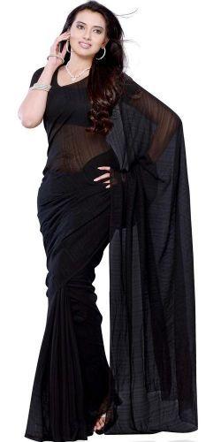 Black Georgette Saree