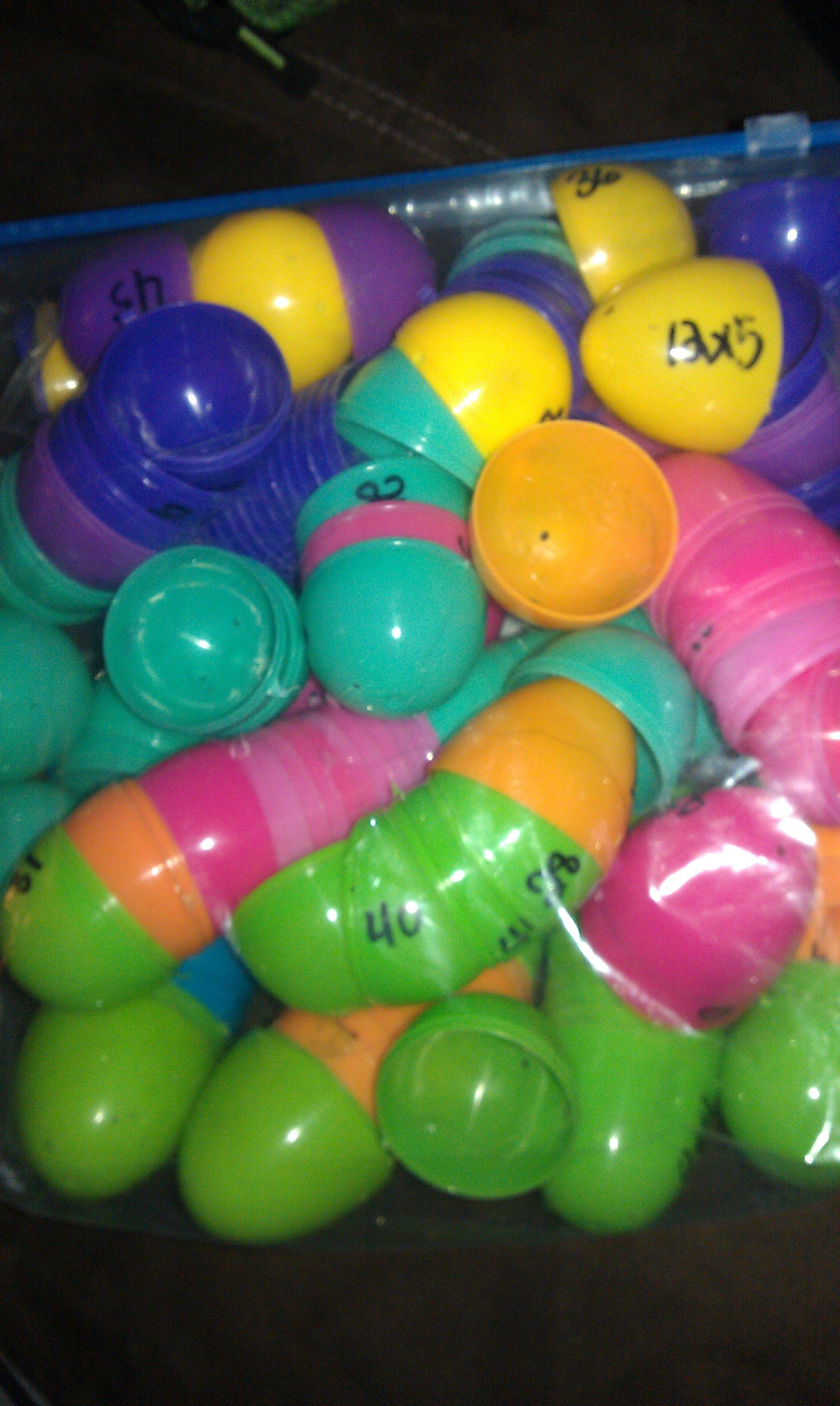 Multiplication Eggs Cute Idea I Use Easter Eggs For
