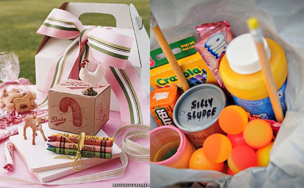 Kids goody bags to keep them entertained:)