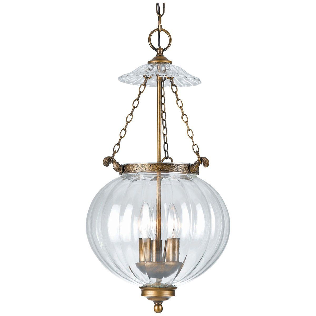 Crystorama lights brass glass pendant i products pinterest