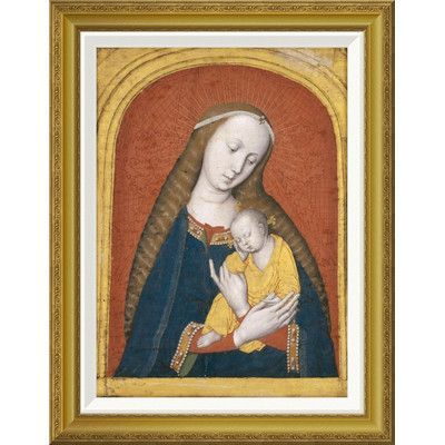 Global Gallery 'The Virgin and Child' by Master Of the Dijon Madonna Framed Painting Print Size:
