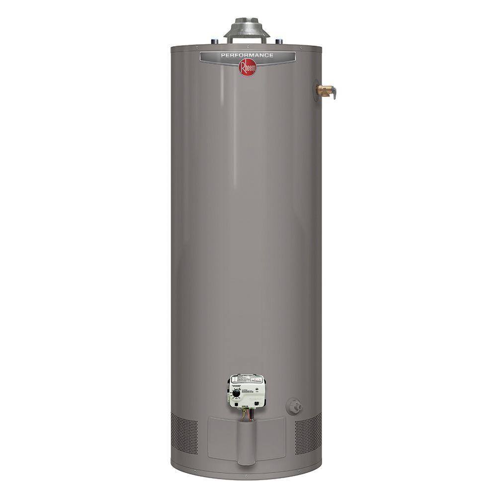 Rheem Performance 40 Gal Tall 6 Year 36 000 Btu Liquid Propane Tank Water Heater Xp40t06he36u0 Natural Gas Water