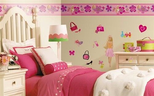 Cenefa | decoración de cuarto para niñas | Pinterest | Wallpaper ...