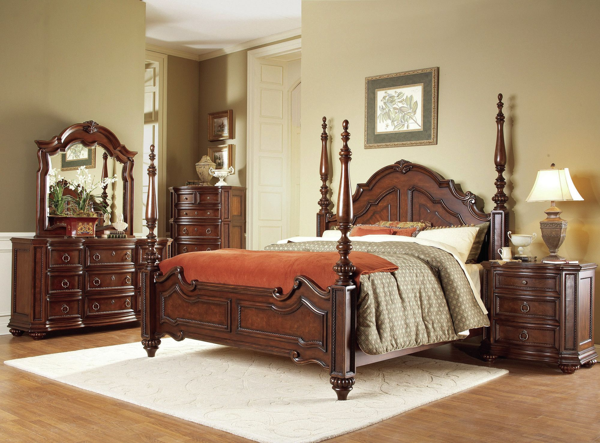 Woodhaven Hill 1390 Series Four Poster Bed U0026 Reviews | Wayfair